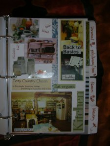 kitchen section divider page