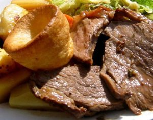roast beef and Yorkshire pud