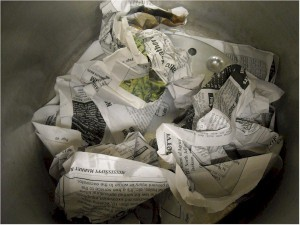 Newspapers Inside Canner