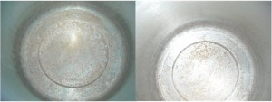 Before and After Cream of Tartar Cleaning
