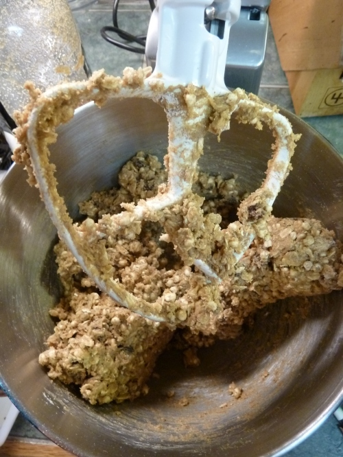 mixing up granola bars