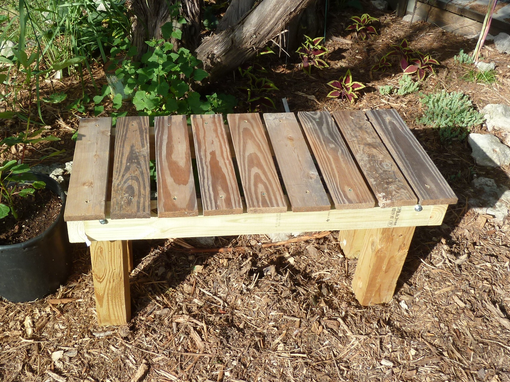 Permanant Wooden Outdoors Bench