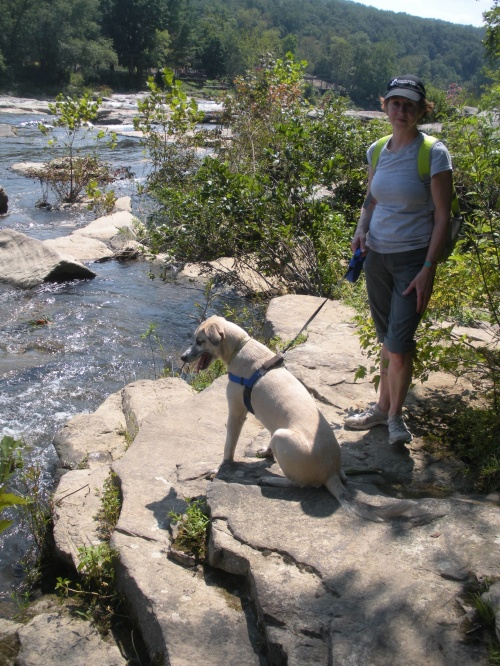 Holly and Skye at the Youghiopyle River