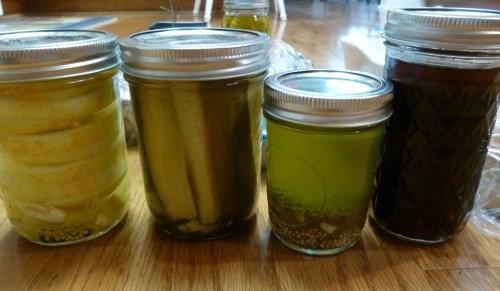 Lemon pickles, Dill pickles, Homemade Teriyaki sauce