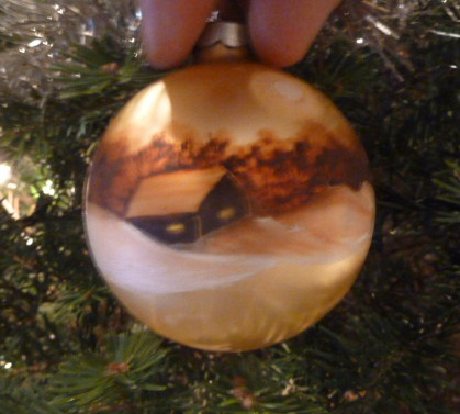 Hand-painted ornament (I know, it is a terrible photo!)