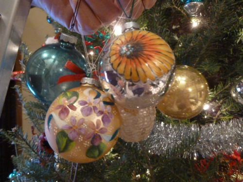 Hand-painted ornaments